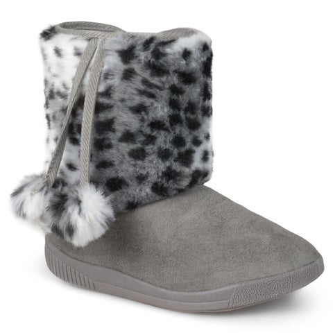 Journee Collection Kid's 'Pom' Pom Pom Faux Fur Boots