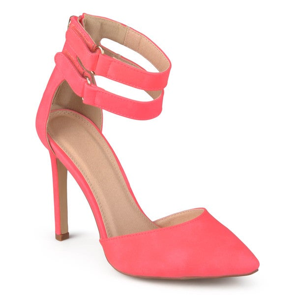 Journee Collection Women's 'Leaf' Pointed Toe Ankle Strap Pumps