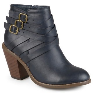 Journee Collection Women's 'Strap' Multi Strap Ankle Boots
