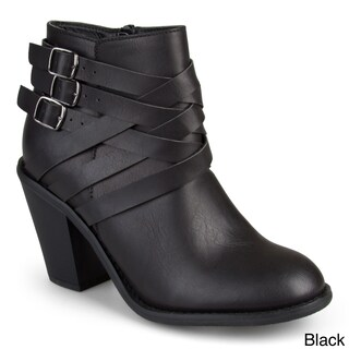 Journee Collection Women's 'Strap' Multi Strap Ankle Boots (More options available)