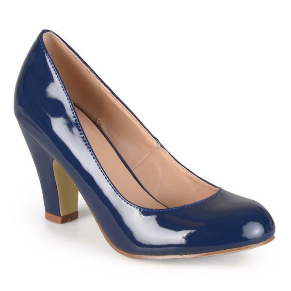 Journee Collection Women's Wanda Patent Faux Leather Pumps