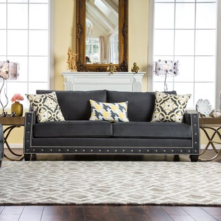 Furniture of America Salma Contemporary Charcoal Premium Fabric Sofa