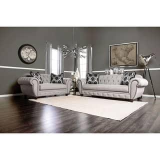 Furniture of America Augusta Victorian Grey 2-piece Sofa Set|https://ak1.ostkcdn.com/images/products/10337999/P17447730.jpg?impolicy=medium