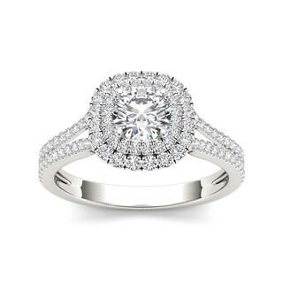 De Couer 14k Gold 1 1/3ct TDW Diamond Engagement Ring - White H-I