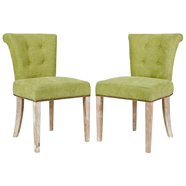 shop handy living lexi parisian green meadow velvet dining chair set of 2 free shipping. Black Bedroom Furniture Sets. Home Design Ideas