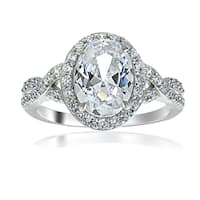 ICZ Stonez Sterling Silver Cubic Zirconia Bridal Style Fashion Ring