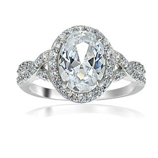 Icz Stones Sterling Silver Cubic Zirconia Bridal Style Fashion Ring