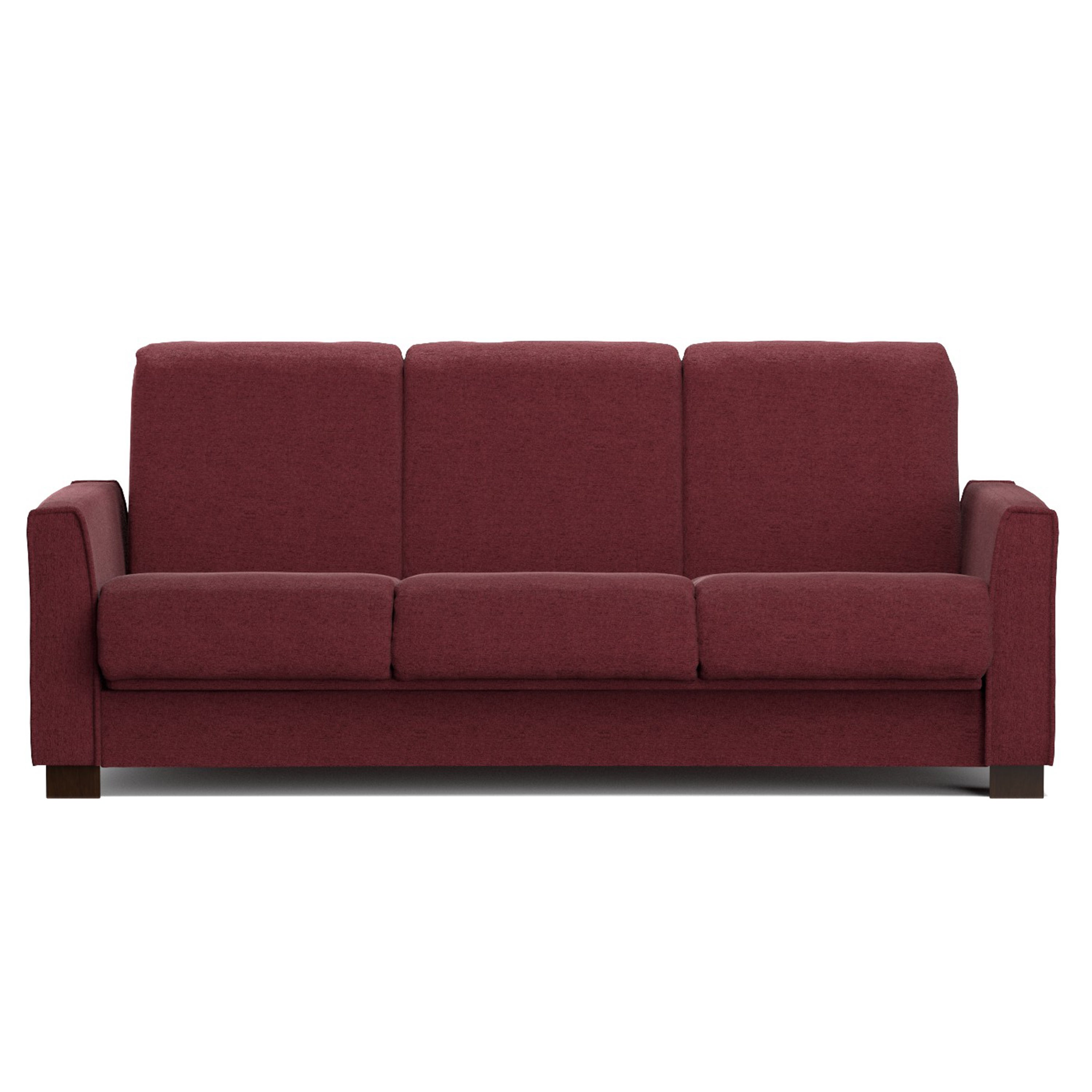 Handy Living Bryant Berry Red Chenille Convert-a-Couch Fu...