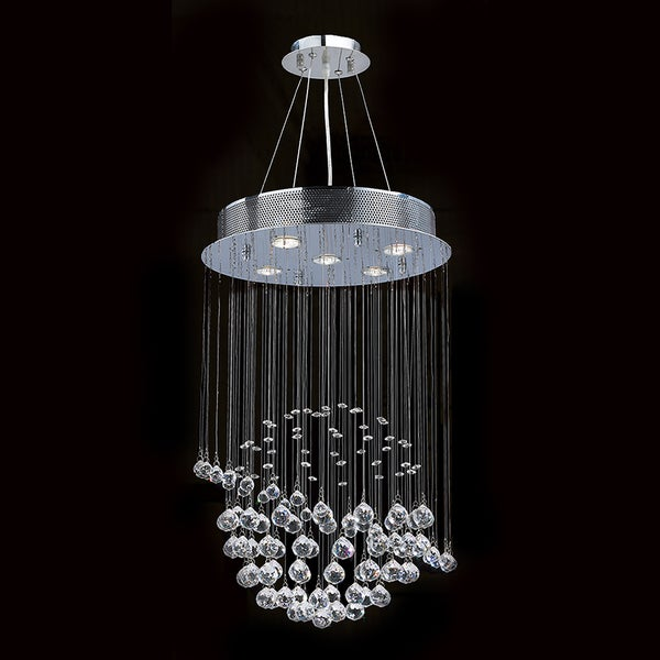 Saturn collection 5 light chrome finish and clear crystal galaxy saturn collection 5 light chrome finish and clear crystal galaxy chandelier aloadofball Images