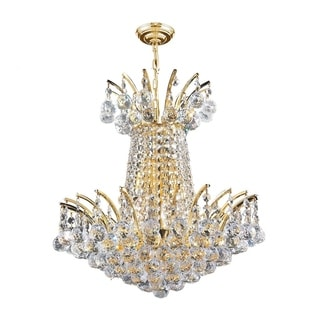 Empire Collection 4 Light Gold Finish and Clear Crystal Chandelier