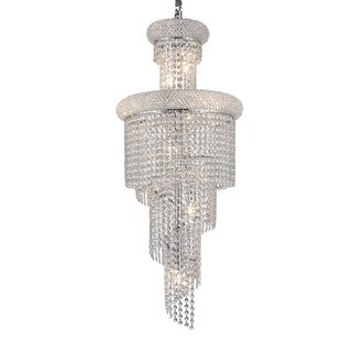 Empire Collection 10 Light Chrome Finish and Clear Crystal Chandelier