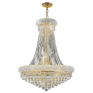 Empire Collection 14 Light Gold Finish and Clear Crystal Chandelier