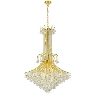 Empire Collection 16 Light Gold Finish and Clear Crystal Chandelier