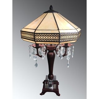 Morisette 4-light Tiffany-style 16-inch Crystal Table Lamp