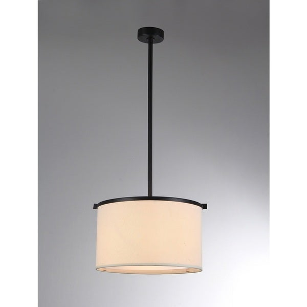 Aesha 1 Light Off White 12 Inch Drum Shade Pendant