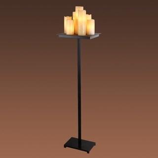 Ayanna 7-light Matte Black 15-inch Floor Lamp
