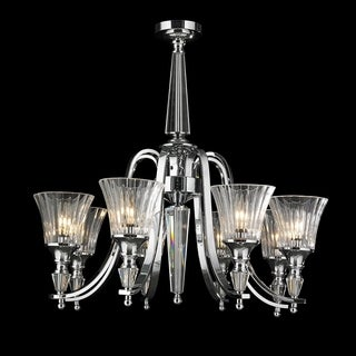 Innsbruck Collection 8-light Chrome Finish and Clear Crystal Candle Large Chandelier