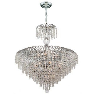 Empire Collection 14 Light Chrome Finish and Clear Crystal Chandelier