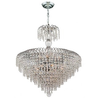 French Empire 14-light Chrome Finish and Clear Crystal Chandelier