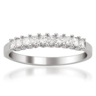 Montebello 14k White Gold 1/2ct TDW Princess-cut White Diamond Wedding Band (More options available)