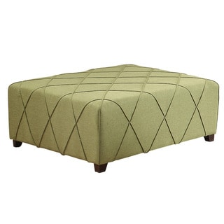 Alyssa Fabric Cocktail Ottoman with 4 Matching Pillows