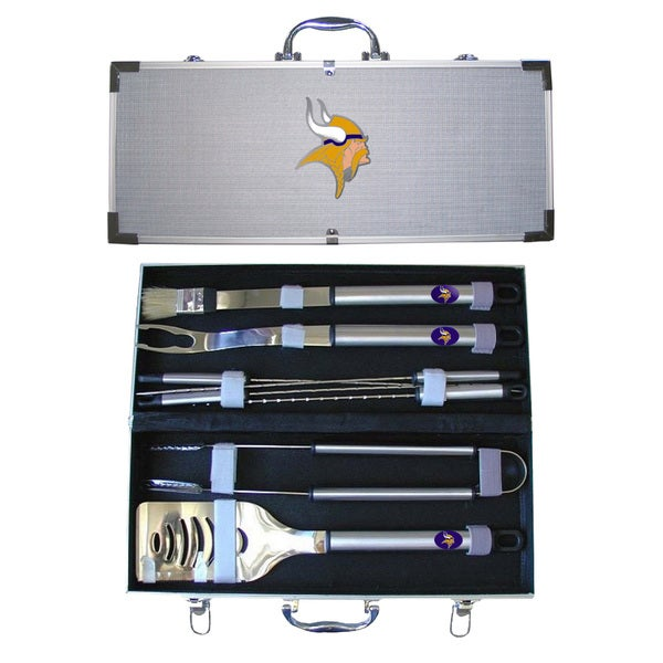 Minnesota Vikings 8-Piece Stainless Steel Barbecue Set