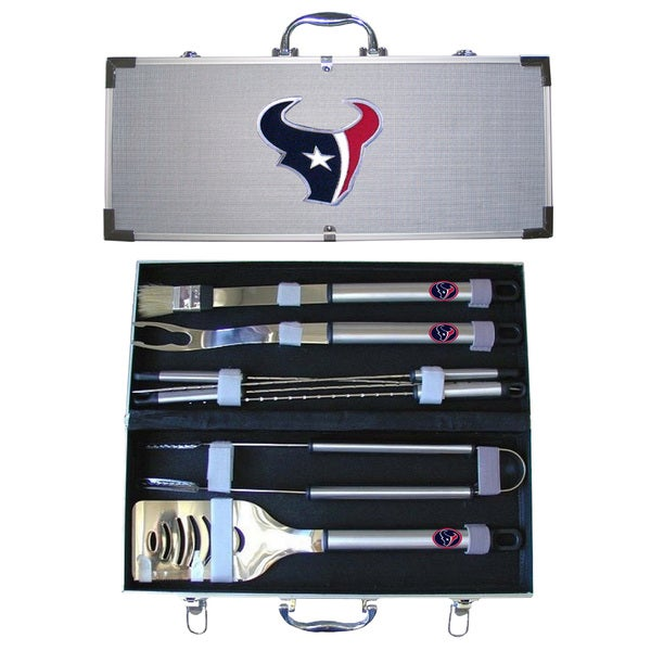 Houston Texans 8-Piece Stainless Steel Barbecue Set