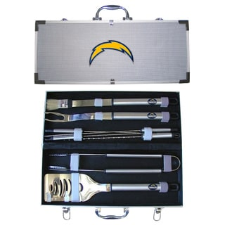 San Diego Chargers 8-Piece Stainless Steel Barbecue Set