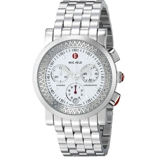 Michele Women's Sport Sail Chronograph Diamond Accent Stainless Steel Watch