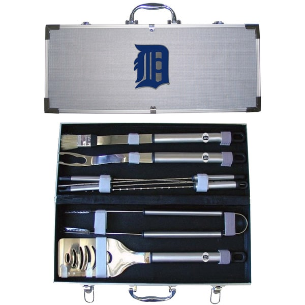 Detroit Tigers 8-Piece Stainless Steel Barbecue Set