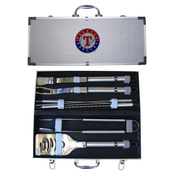 Texas Rangers 8-Piece Stainless Steel Barbecue Set