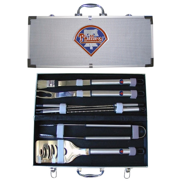 Philadelphia Phillies 8-Piece Stainless Barbecue Set