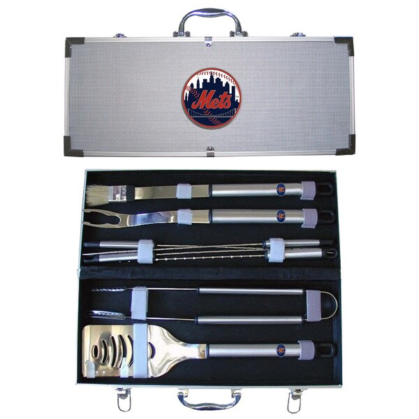 New York Mets 8-Piece Stainless Steel Barbecue Set