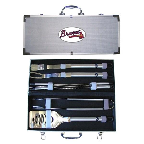 Atlanta Braves 8-Piece Stainless Steel Barbecue Set