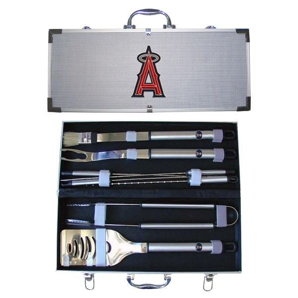 Los Angeles Angels 8-Piece Stainless Steel Barbecue Set