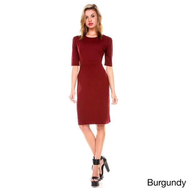 Stanzino Women's Short Sleeve Solid Casual Dress