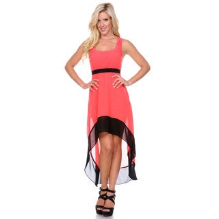 Stanzino Women's Sleeveless Colorblock Chiffon Asymmetrical Dress