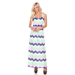 Stanzino Women's Elastic Waist Sleeveless Colorblock Maxi Dress