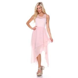 Stanzino Women's Sleeveless Mesh Asymmetrical Dress