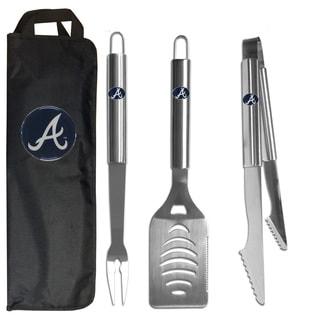 Atlanta Braves 3-Piece Stainless Steel Barbecue Set