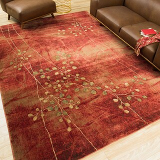 Oliver & James Anish Red Floral Area Rug (7'9 x 10'10)