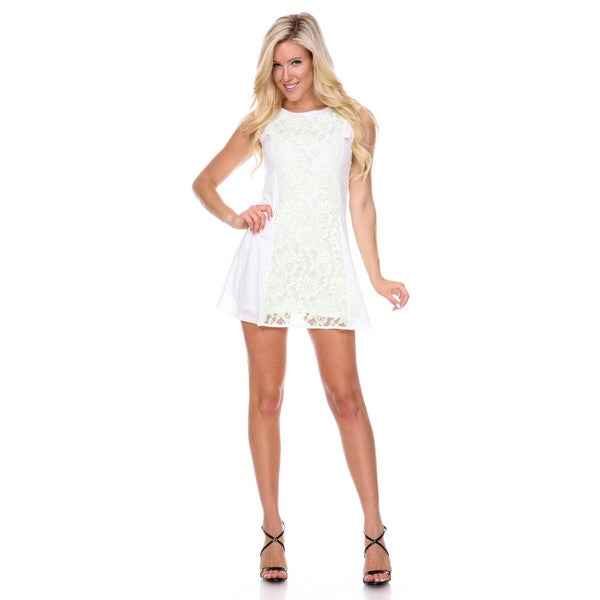 ce66ae64f16 Shop Stanzino Women s Colorblock Lace Shift Dress - Free Shipping On ...