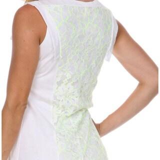 Stanzino Women's Colorblock Lace Shift Dress