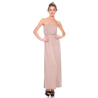 Stanzino Women's Strapless Mocha Maxi Dress