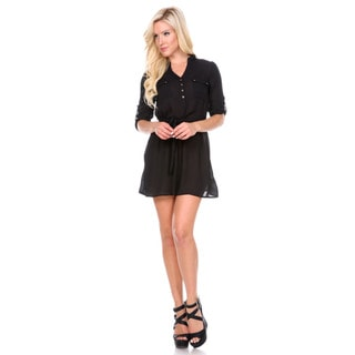 Stanzino Women's Black Shirt Dress