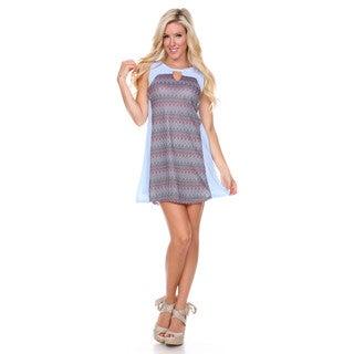 Stanzino Women's Printed Sleeveless Shift Dress