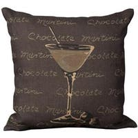 Mina Victory Lifestyle Chocolate Martini Brown Throw Pillow (20-inch x 20-inch) by Nourison