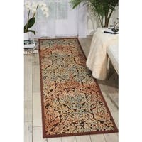 Nourison Graphic Illusions Chocolate Runner Rug - 1'11 x 7'