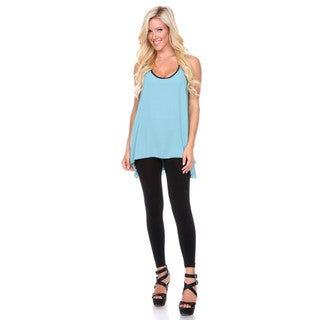 Stanzino Women's Solid Sleeveless Tank Top