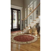 Nourison Somerset Red Round Rug - 5'6 x 5'6
